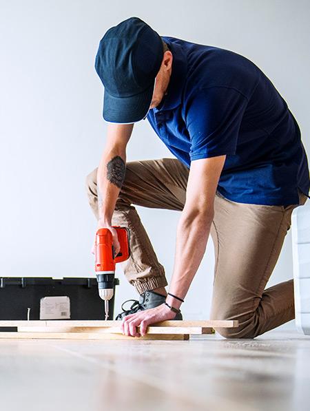 Man Doing Construction